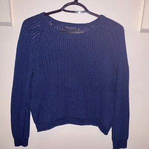 Brandy Melville PacSun Knit Blue Sweater